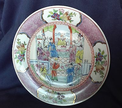 Antique Chinese Imperial Enamelled Famille Rose Porcelain Plate Signed Marked