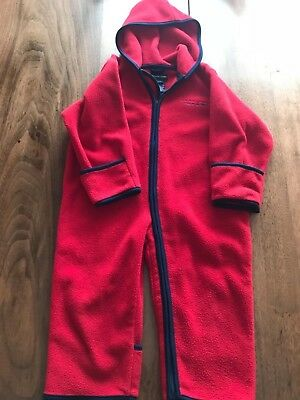NICE!!! Ralph Lauren POLO SPORT Toddler Fleece SNOWSUIT Red Size L/XL 18-24Mo