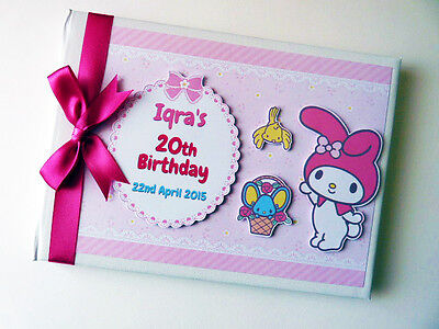 Personalised My Melody/girls /first/1St Birthday Guest Book Any Design