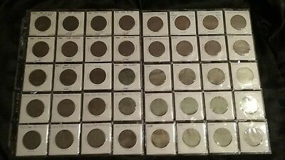 GREAT BRITAIN - LOT OF 40 COINS - 1 PENNY - Dates 1902-1965