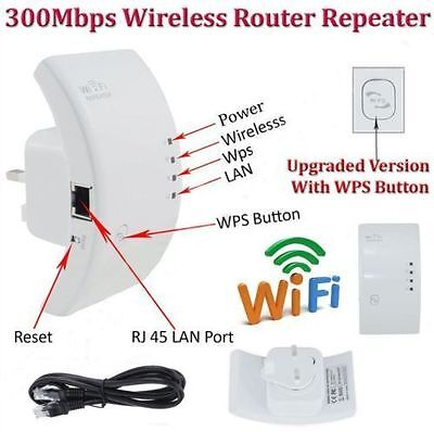 300Mbps Wireless N 802.11 AP Wifi Range Router Repeater Extender Booster AU AQ