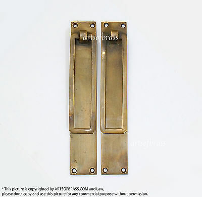 "7.00"" inches 2 pcs Vintage Retro Brass Long Handle Drop Pulls Drawer Handle Pull"