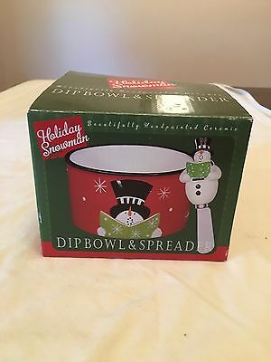 Certified International Holiday Snowman Dip Bowl And Spreader