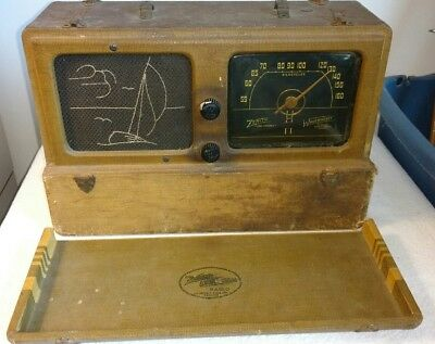 VTG Zenith Universal Wave Magnet Radio-ca. 1940-Model 6G601M-untested, for parts