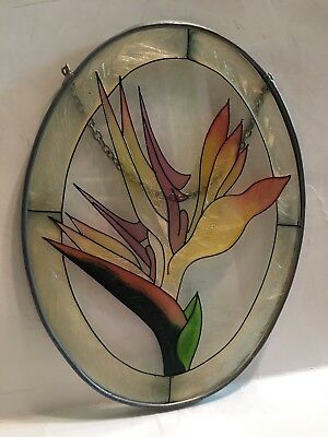 Stained Glass Window Hanging Flower