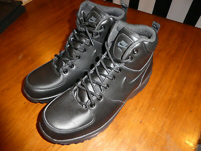 d4314f6b1cce NIKE MANOA LEATHER boots Men s Size 10.5 black New 454350 003 ...
