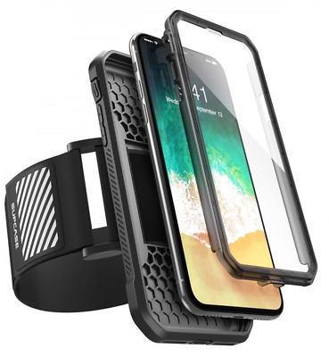 iPhone X Armband, SUPCASE Easy Fitting Sport Running Armband Case with Built-in