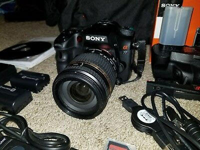 Sony Alpha a77 Digital SLR Camera + Vertical Grip + Lens & more SLT-A77V