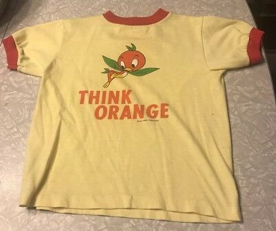 Vintage Walt Disney World Florida Orange Bird Shirt Think Orange RARE!!!