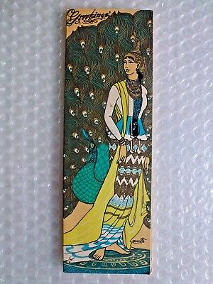 gREETING CARD VINTAGE BURMESE DAMSEL TRADITIONAL DRESS CHRISTMAS NEW YEAR neocur