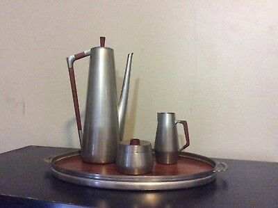Vintage Pewter Coffee/ Tea 4 piece Set  Royal Holland Daalderop KMD