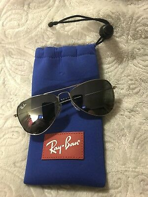 RAY BAN kids sunglasses RJ 9506S SILVER/MIRROR 9506 JUNIOR AVIATORS gently used