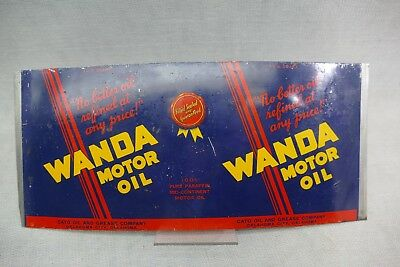 Kind of Fond of Wanda Motor Oil Tin Can Cato Oil Oklahoma City Gas Station Unrol