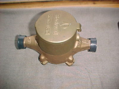 Rockwell SR II Water Meter  New Old Stock  Never Used Reads Cubic Feet No Res