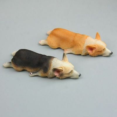 2 Pcs Dog Corgi Fridge Magnet Resin Refrigerator Stickers Funny Gift Home Decor