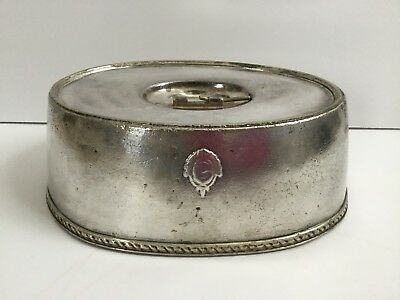 Rare Antique New York Biltmore Hotel Silver Plated Meat Dome Food Cover C.1913