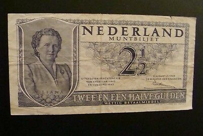 Netherlands 2 1/2 Gulden 1949