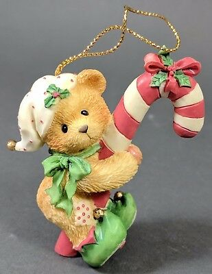 *MINT* Cherished Teddies ~ Elf with Cane Hanging Ornament (651389)
