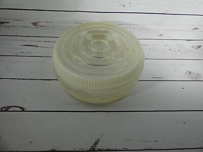 Vintage Ceiling Shade Milk Glass & Clear Lamp Light Shade Globe 10""