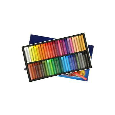 50 Color Waterproof Oil Pastels Box Set Inscribe Artist Drawing Assorted Colour