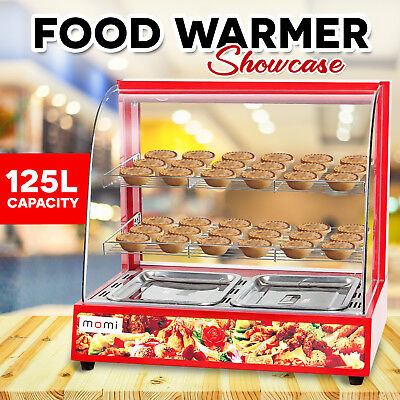 Commercial Pie Food Warmer Hot Glass Display Showcase Stainless Steel Cabinet