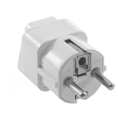 Universal AU US UK to EU AC Power Plug Travel Home Converter Adapter PP