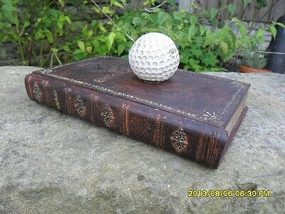American Golf Box With A Eagle Crest Vintage Hand Painted Retro Book Storage