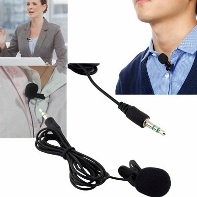 Hot Universal Mini 3.5mm Lectures Teaching Tie Lapel Lavalier Clip Microphone AQ