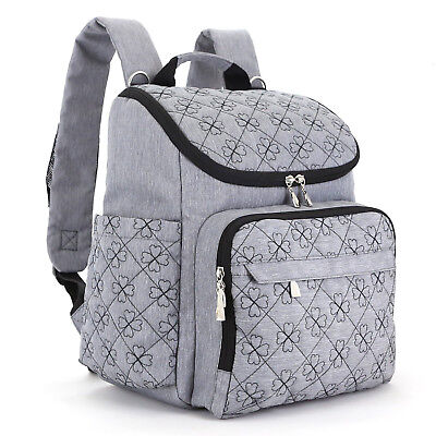 US Baby Backpack Diaper Bag Diaper Pad Insulation Bag Fit Stroller Best Quality