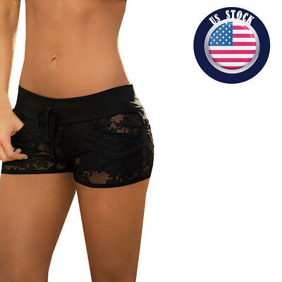 Women Shorts Lace Lady Hot Thongs Lingerie Underwear Hollow Sexy Panties US
