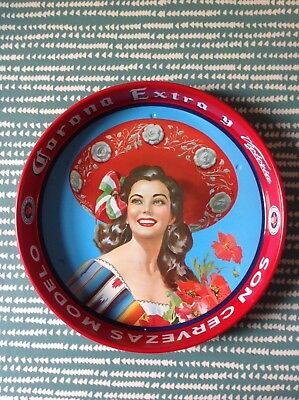 Corona Retro Beer Tray (Pinup Girl Picture) Mexican