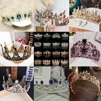 2018 Wedding Bridal Princess Rhinestone Tiara Crown Headband Hair Accessories