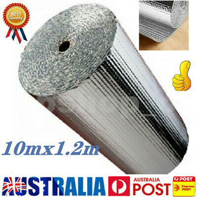 10M*1.2M Sliver Air Bubble Cell Insulation Reflective Foil Roof Aluminium