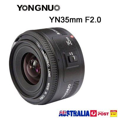 Yongnuo YN35mm F2 35mm F/2.0 AF Wide Angle Fixed Lens EF for Canon EOS AQ