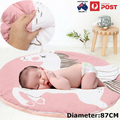 Baby Kid Floor Play Mat Crawling Blankets Unicorn Rabbit Cotton Carpet Cute AU