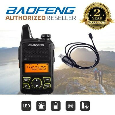 Baofeng BF-T1 UHF FM Long Range Two Way Walkie Talkie Radio + USB Cable UK