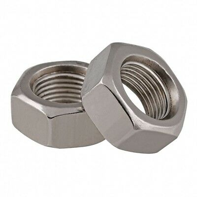 A2 Stainless Steel Fine Thread Hexagon Full Nuts To Fit Metric Boltsscrews
