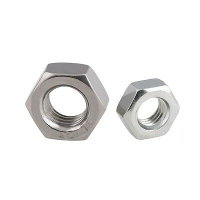 A2 Stainless Steel Left Hand Hexagon Full Nuts For Metric Coarse Bolts & Screws