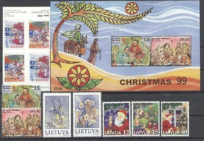 Weihnachten, Christmas - LOT ** MNH 1999