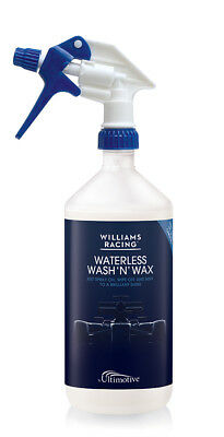 Williams Racing Waterless Wash and Wax 1L NEW with 10% More Carnauba Wax