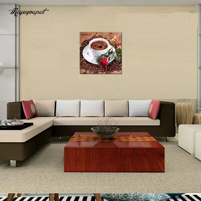5D Coffee Cup and Red Rose Pattern Embroidery Diy Diamond Plated Painting Yk