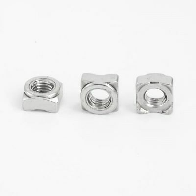 Square Weld Nuts A2 Stainless Steel Self Colour To Fit Metric Coarse Bolt/screw