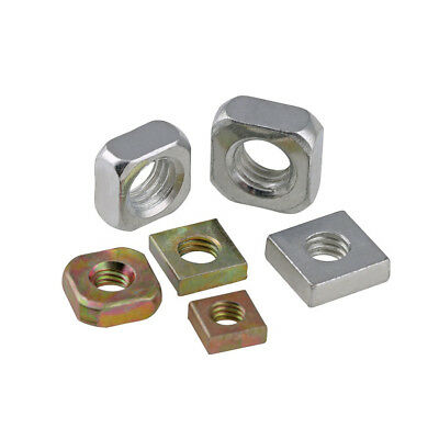 Square Nuts Zinc Plated Carbon Steel To Fit Metric Coarse Bolts/screws Gb/t