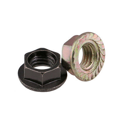 Carbon Steel Zinc Plated Flange Nut Hex Lock Nut To Fit Metric Coarse Bolt/screw
