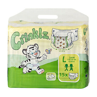 Adult Nappy / Diaper Crinklz - Large - Pack of 15