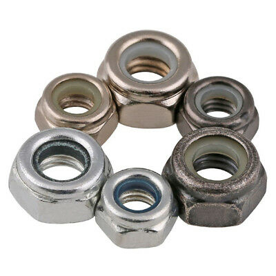 Carbon Steel Nylon Insert Lock Nuts Ni/Zinc Plated For Metric Bolt/Screws Din985