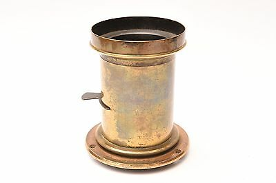 Vintage brass lens with one waterhouse stop. Good condition