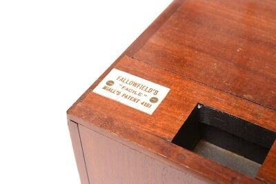 "FALLOWFIELD'S « EASY ""is has detective type camera made of lacquered mahogany"