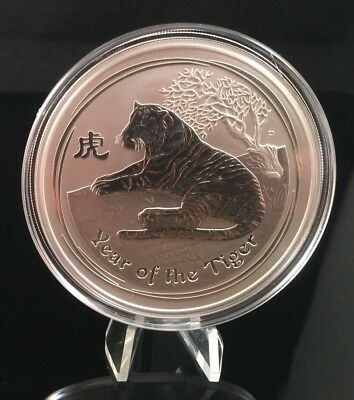 2010 Australian Lunar Tiger 5 oz Silver Coin - Series II - From Mint Case!