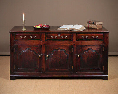 Antique 18th.c. Welsh Oak Dresser Base c.1760.